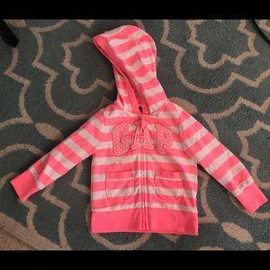 2T Like-NEW Baby Gap brand Neon pink Zip-up hoodie